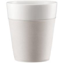 Bodum BISTRO 2 Stk. Tasse mit Silikonband 0.3l cremefarben