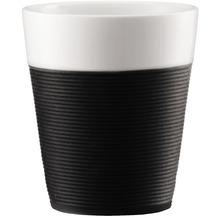 Bodum BISTRO 2 Stk. Tasse mit Silikonband 0.3l schwarz