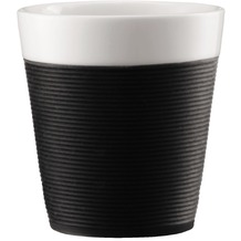 Bodum BISTRO 2 Stück Tasse mit Silikonband 0.17l schwarz