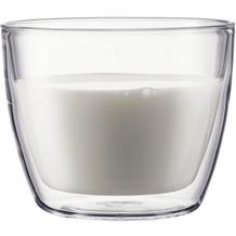 Bodum BISTRO Café Latte Tasse 2 Stück 0,45 l transparent