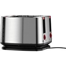 Bodum BISTRO Elektrischer Toaster, 4 Scheiben, 1600 W, Edelstahl verchromt
