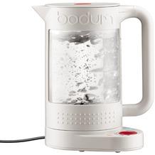 Bodum BISTRO Elektrischer Wasserkocher mit Temperaturregler, doppelwandig, 1.1 l cremefarben