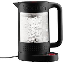 Bodum BISTRO Elektrischer Wasserkocher mit Temperaturregler, doppelwandig, 1.1 l schwarz