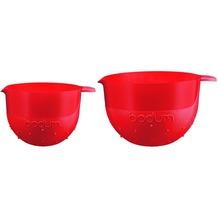Bodum BISTRO SET 2 Stk Rührschüssel 1,4 l und 2,8 l rot