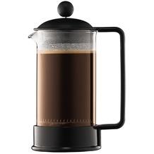 Bodum BRAZIL Kaffeebereiter, 3 Tassen, 0.35 l mit Bechergefäss aus PC schwarz