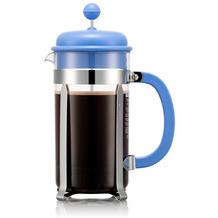 Bodum CAFFETTIERA Kaffeebereiter, 8 Tassen, 1,0l, blau