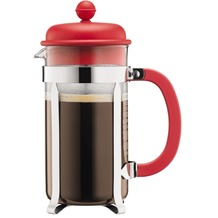 Bodum CAFFETTIERA Kaffeebereiter, 8 Tassen, 1.0 l rot