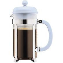 Bodum CAFFETTIERA Kaffeebereiter mit Kunststoffdeckel, 8 Tassen, 1.0 l, Edelstahl blau