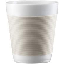 Bodum CANTEEN 2 Stück Tasse 0,1 l cremefarben