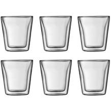 Bodum CANTEEN 6 Stück Glas, doppelwandig, 0.1 l transparent