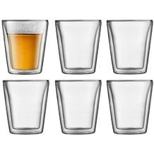 Bodum CANTEEN 6 Stück Glas, doppelwandig, 0.2 l transparent