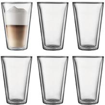 Bodum CANTEEN 6 Stück Glas, doppelwandig, 0.4 l transparent