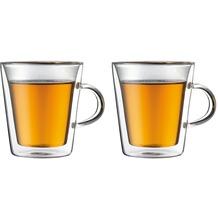 Bodum CANTEEN Glas mit Griff doppelwandig 0.2L - 2er Set