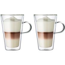 Bodum CANTEEN Glas mit Griff doppelwandig 0.4L - 2er Set