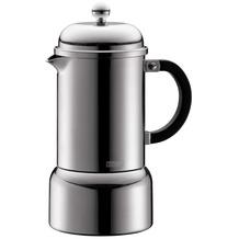 Bodum CHAMBORD Espressokocher, manuell, 6 Tassen, 0.35 l, Edelstahl glänzend