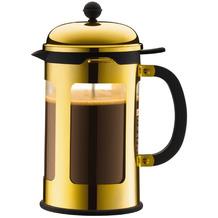 Bodum CHAMBORD Pressstempel-Kaffeebereiter, 12 Tassen, 1.5 l gold