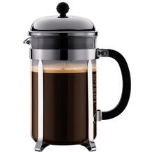 Bodum CHAMBORD Kaffeebereiter, 12 Tassen, 1.5 l mit Bechergefäss aus PC verchromt