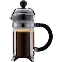 Bodum CHAMBORD Kaffeebereiter, 3 Tassen, 0.35 l mit Bechergefäss aus PC verchromt