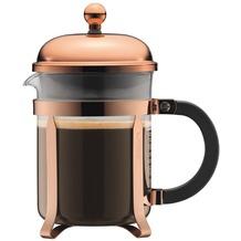 Bodum CHAMBORD Kaffeebereiter, 4 Tassen, 0.5 l, Edelstahl kupfer, erhöhter Rahmen