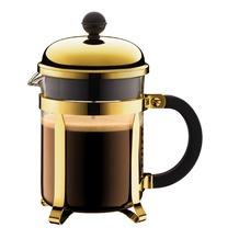 Bodum CHAMBORD Kaffeebereiter, 4 Tassen, 0.5 l gold, erhöhter Rahmen
