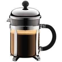 Bodum CHAMBORD Kaffeebereiter, 4 Tassen, 0.5 l mit Bechergefäss aus PC verchromt