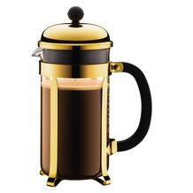 Bodum CHAMBORD Kaffeebereiter, 8 Tassen, 1.0 l, Edelstahl gold