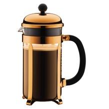 Bodum CHAMBORD Kaffeebereiter, 8 Tassen, 1.0 l kupfer, erhöhter Rahmen