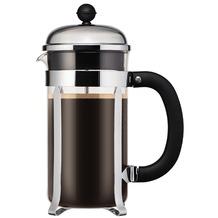 Bodum CHAMBORD Kaffeebereiter, 8 Tassen, 1.0 l schwarz, Deckel silber