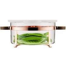 Bodum CHAMBORD SET Glasschale mit Silikondeckel, 2.5 l weiss, milchig