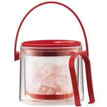Bodum COOL Eiskübel mit Zange, 1.5 l rot