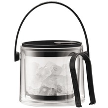Bodum COOL Eiskübel mit Zange, 1.5 l schwarz