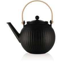 Bodum DOURO Teepresse aus Porzellan mit Edelstahlfilter, 1.5 L schwarz matt
