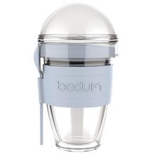 Bodum JOYCUP Joghurtbecher mit Granolabehälter und Löffel, Kunststoff, doppelwandig, 0.3 l blau