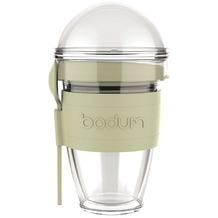 Bodum JOYCUP Joghurtbecher mit Granolabehälter und Löffel, Kunststoff, doppelwandig, 0.3 l grün