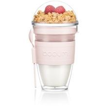 Bodum JOYCUP Joghurtbecher mit Müslibehälter 0,25 l. Doppelwandiger Kunststoff, strawberry