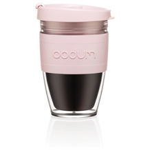 Bodum JOYCUP Travel Mug, Doppelwandig, Kunststoff, 0.25 l strawberry