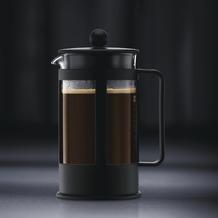 Bodum KENYA Kaffeebereiter 0,5 l 4 Tassen schwarz, eckiger Griff