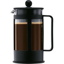Bodum KENYA Kaffeebereiter 1,0 l 8 Tassen schwarz, eckiger Griff