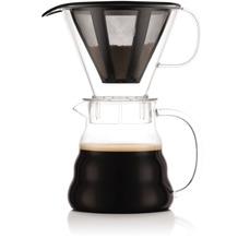 Bodum MELIOR Kaffeebereiter mit Permanent Edelstahl Kaffeefilter, 2.5 Tassen, 0.6 l transparent