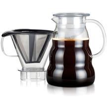 Bodum MELIOR Kaffeebereiter mit Permanent Edelstahl Kaffeefilter, 8 Tassen, 1.0 l transparent