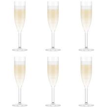 Bodum OKTETT 6 Champagner-Gläser, Kunststoff, 0.12l transparent