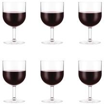 Bodum OKTETT 6 Rotweingläser, Kunststoff, 0.25l transparent