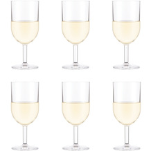 Bodum OKTETT 6 Weißweingläser, Kunststoff, 0.23l transparent