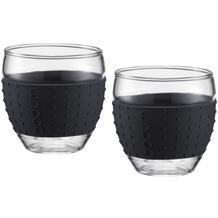 Bodum PAVINA Glas 0.35L schwarz - 2er Set
