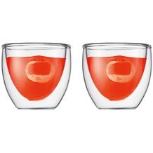 Bodum PAVINA Glas doppelwandig 0.08L - 2er Set