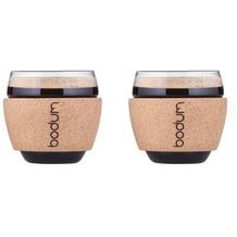 Bodum PAVINA Set 2 Gläser, 0.1 l kork