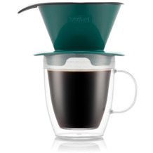 Bodum POUR OVER Kaffee-Tropfer und doppelwandige Tasse, 0,3 l, grün