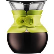 Bodum POUR OVER Kaffeebereiter mit goldfarbigem Filter, kurze Tülle, 0.5 l, 17 oz limettengrün