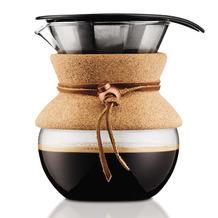 Bodum POUR OVER Kaffeebereiter mit permanentfilter, kurze Tülle, 0.5 l kork