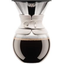 Bodum POUR OVER Kaffeebereiter mit permanentfilter, kurze Tülle, 1.0 l cremefarben